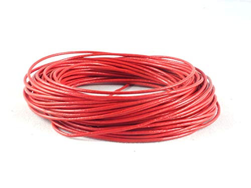 - cords craft 1.0mm Genuine Round Leather Cord Leather String for Jewelry Making Bracelet Necklace Beading, 10 Meters / 10.93 Yards (Red)