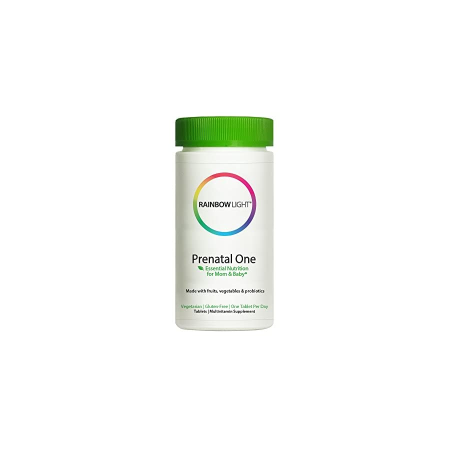 Rainbow Light Prenatal One Multivitamin, Once Daily to Support Energy and Immunity for Mother and Development for Baby with Folic Acid, Iron and Probiotics, Vegetarian, Gluten Free