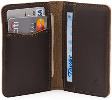 Saddleback Leather Front Pocket Bifold Wallet- 100% Full Grain, All Leather, RFID Shielding Thin Bifold Wallet with Bonus Leather Pouch.