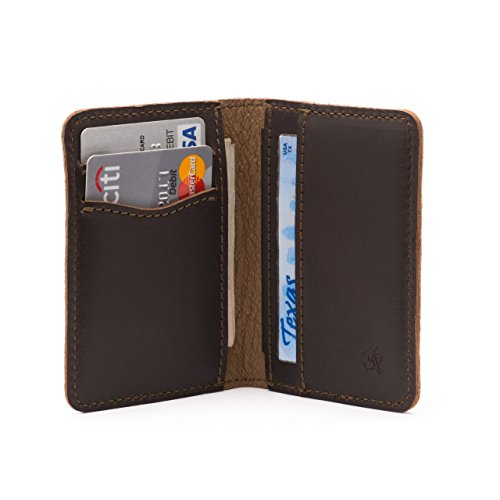 Front Pocket Leather - Saddleback Leather Co. Thin Front Pocket Leather Bifold Wallet RFID Shielded Includes 100 Year Warranty