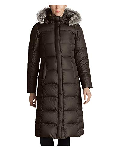 Eddie Bauer Women's Lodge Down Duffle Coat, Cocoa Regular M