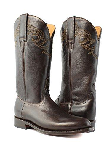... Lucchese M0520.c2 Josephine Kvinners Sjokolade Skinn Cowboy Western  Boots ...