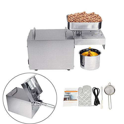 Soya Extract - BEAMNOVA Automatic Oil Press Machine Extractor Olive Expeller Commercial Home 304 Stainless Steel 3.5-6kg/hour