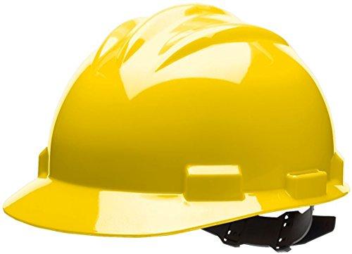 - Bullard 61YLP Standard Series Cap Style Hard Hat, 4 Point Pin Lock Suspension, Cotton Brow Pad, Yellow, One Size