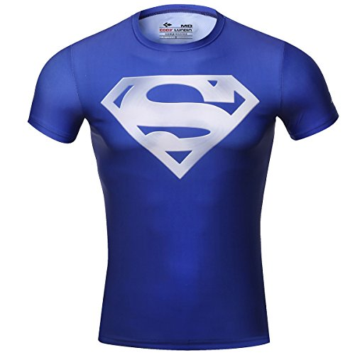 War S/s Tee (Red Plume Men's Compression Tights Sports Fitness Shirt,S Man Armor T-Shirt (L, Silver Logo))
