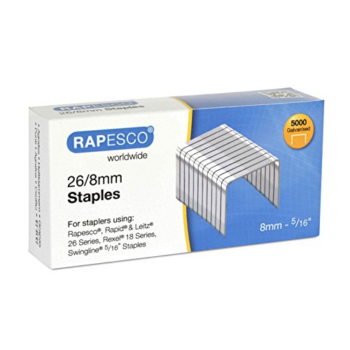 Rapesco Staples, 26/8 mm [Box of 5,000]