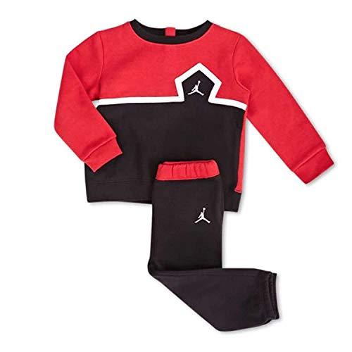 Jordan Jumpman Infant Boys Sweatsuit Black/Gym Red 18 Months (Sweatsuits Kids Jordan For)