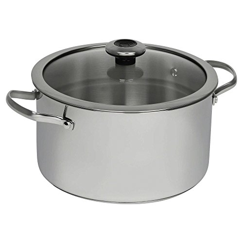 Revere Copper Confidence Core Stainless Steel Covered Stock Pot l Stainless Steel and Copper Construction (6.5-Quart)