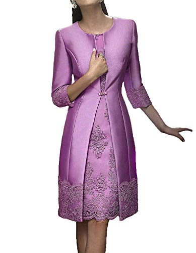 (JINGDRESS Tea Length Mother of The Bride Dresses with Jackets Two Piece for Women)
