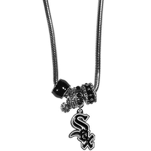 MLB Chicago White Sox Euro Bead Necklace, 18