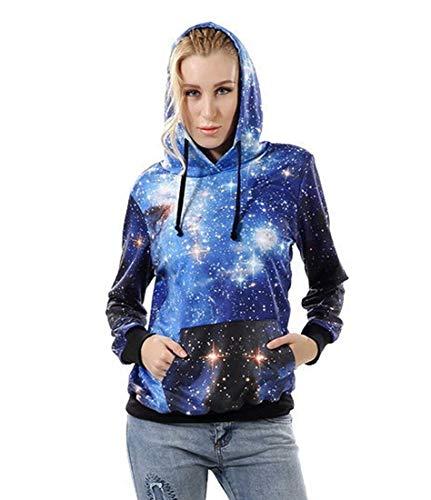 Mosszra Multiple Fashion Digital Print Casual Pocket Hoodies Sweatshirt