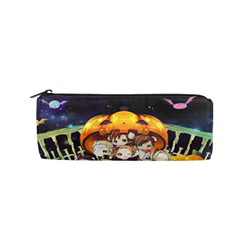 Hetalia-Halloween Anime/Cartoon Print Pencil Case Fashion Cylinder Cosmetic Bag Make Up Case