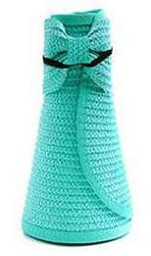 Summer Outdoor Women's Foldable Wide Large Brim Beach Sun Hat Girls Vacation Tour Hat Sun Beach Bowknot ()