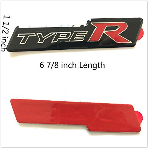 -R Cover Integra Civic Type R Badge Sticker Emblem Sticker For Honda (Typer-R) ()