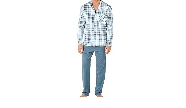 Calida Pyjama Queens-Pijama Hombre Blue Slate Medium: Amazon.es: Ropa y accesorios