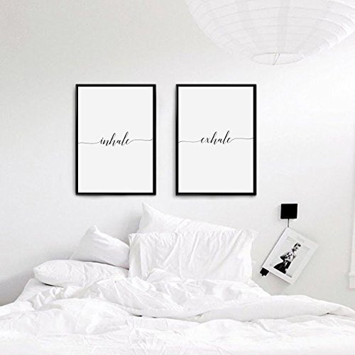 inhale exhale print bedroom decor wedding gift wall art wall decor - Minimal Room Decor