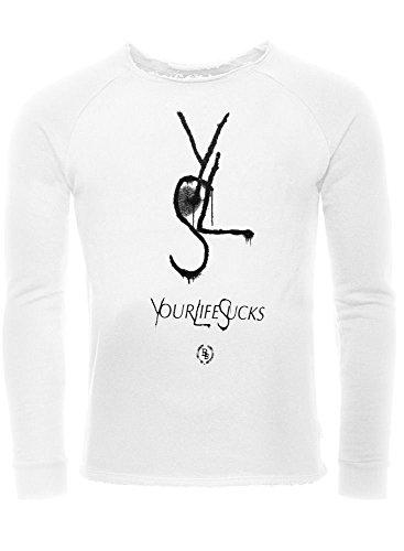BoomBap YLS SWEATS LS UNISEX, WHITE, Größe: XL