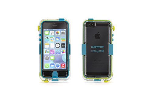 Griffin GB36204 Survivor Waterproof and Catalyst for iPhone 5 - Retail Packaging - Turquoise (Griffin Survivor Catalyst Waterproof Case For Iphone 5s)
