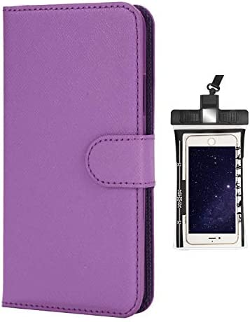 iPhone XS ケース アイフォン 手帳型 本革 レザーケース 財布型 カード収納 マグネット式 保護ケース 軽量 スマホケース スマートフォンケース アイフォン [無料付防水ポーチ水泳など適用]