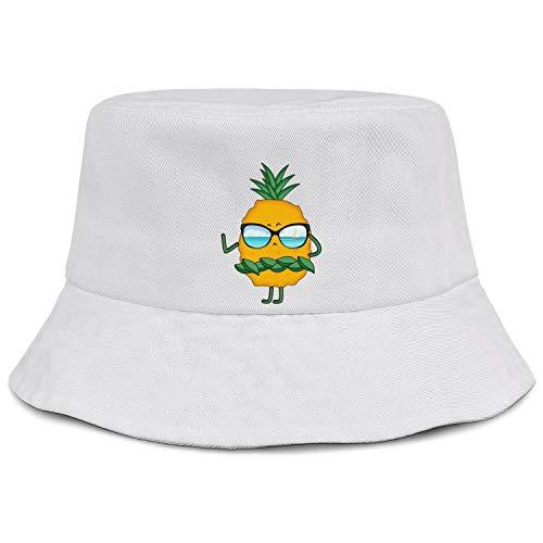 Unisex Bucket Hat Geometric Pattern Pineapple Packable Outdoor Camping Fishing Rain Safari Boonie Cap Dad Hat Cute Cap