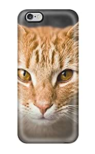 Hot Fashion WwEQlwT1720OVPWS Design Case Cover For Iphone 6 Plus Protective Case (orange Cat Glamor Shot)