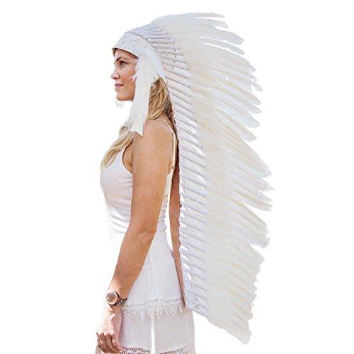 Novum Crafts Feather Headdress | Native American Indian Inspired | -