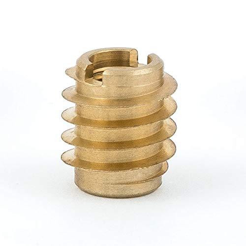 E-Z Lok 400-008 Threaded Insert, Brass, Knife Thread, #8