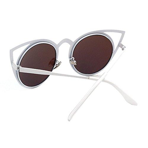 Aoligei Rue battre lunettes de soleil de personnalité colorée Europe et verres d'Amérique tendance cat eye marée personnes lunettes de soleil femmes woeXfZCA