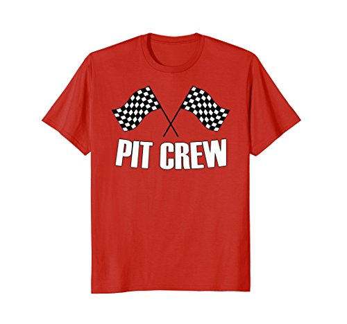 Mens Pit Crew Shirt - Mens Pit Crew T Shirt for Hosting Race Car Parties Parents Pit Small Red