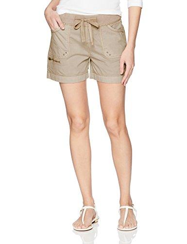 Jag Jeans Women's Diana Short, Baby Camel, 10 Beige Denim Shorts