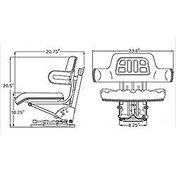 Yellow Tractor Seat For John Deere 820 830 1020 15