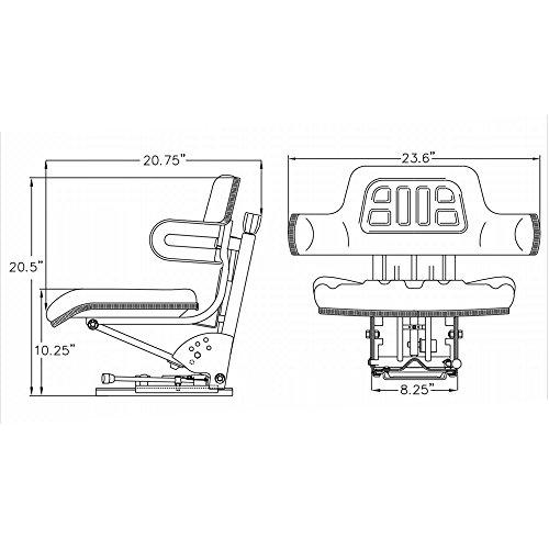 Yellow Tractor Seat For John Deere 820 830 1020 1530 2020 2030 2040 2150 2155