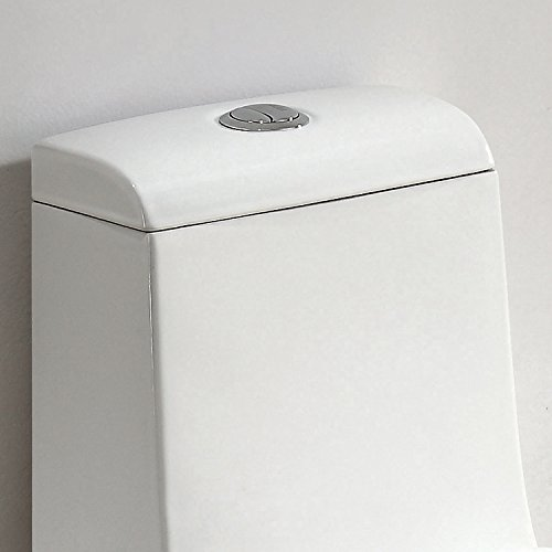ARIEL Bath CO1042 Contemporary European Toilet - White - Dual Flush by Ariel Bath