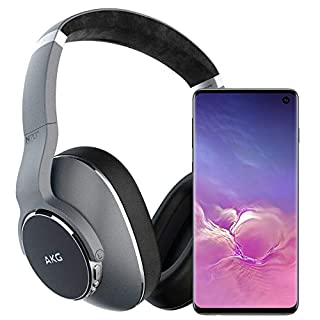 Samsung Galaxy S10 Factory Unlocked Phone with 128GB - Prism Black w/AKG N700NC Headphones