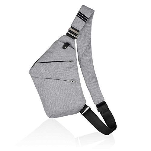 BROADREAM Multi-Pocket Crossbody, Brusttasche Herren,Anti-Diebstahl Brusttasche für Herren Und Damen