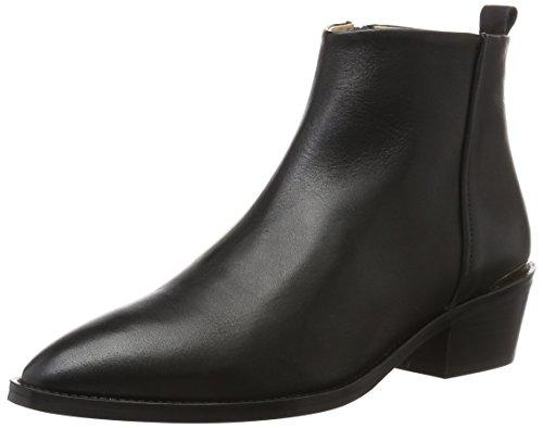 GARDENIA COPENHAGEN Women's Pointy Heel Ankle Boots Black (Velvet Black) EECk5iqzn