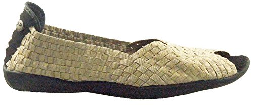 On Bernie Dream Flats Open Toe Slip Shoes Women's Light Mev Gold w7x6xHqa