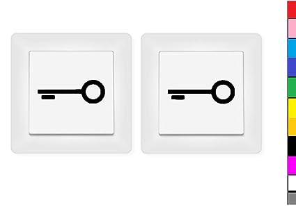 Generisch 2x Schlüssel Aufkleber Schalteraufkleber Symbol