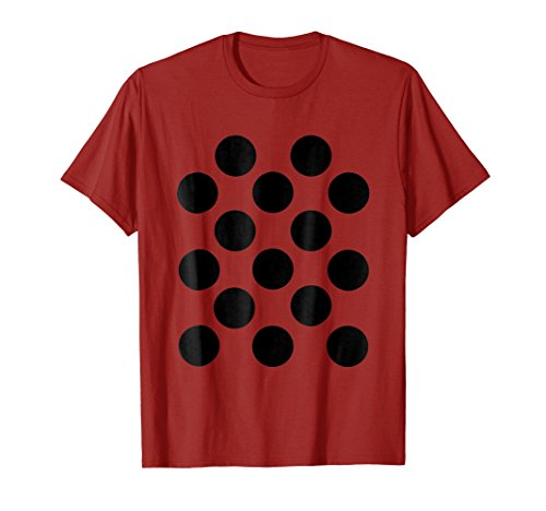 (Ladybug Halloween DIY Costume Shirt - Black Dots on)
