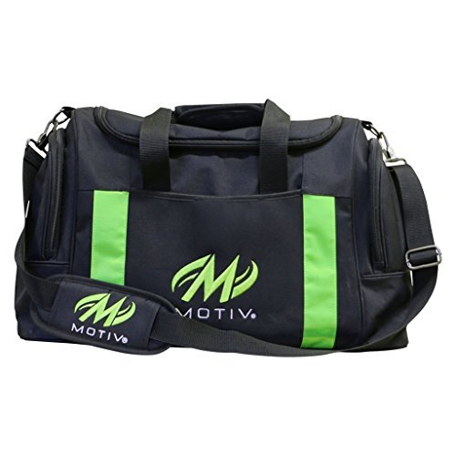 MOTIV Double Deluxe Tote Bowling Bag- Black/Green ()