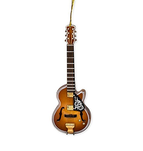 F-Hole Guitar w/Cut Away Tree Ornament by Broadway Gift