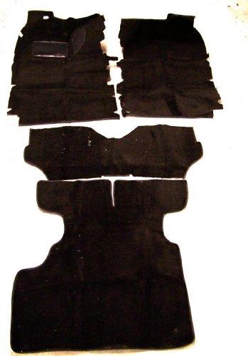 Newark Auto 79-83 Datsun/Nissan 280ZX Black Cut Pile Replacement Carpet With 20 Ounce Padding