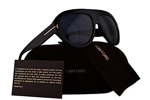 Tom Ford FT0589 Felix-02 Sunglasses Shiny Black w/Blue Lens 01V - Ford Tom Sunglasses For Sale