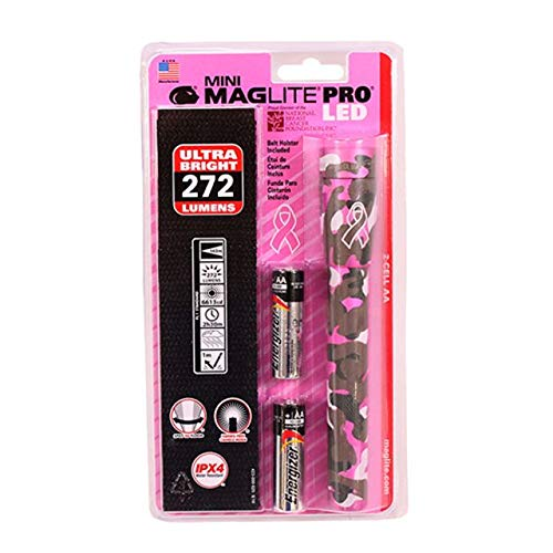 Maglite, Mini Maglite LED/National Breast Cancer Foundation, 3 Cell, AA, Pink Camouflage, Blister