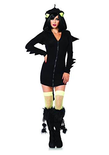 [Leg Avenue Women's Cozy Dragon Costume, Black, Medium] (Dragon Lady Sexy Costumes)