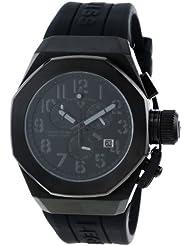 Swiss Legend Mens 10542-BB-01-GRYA Trimix Diver Chronograph Black Dial Black Silicone Watch