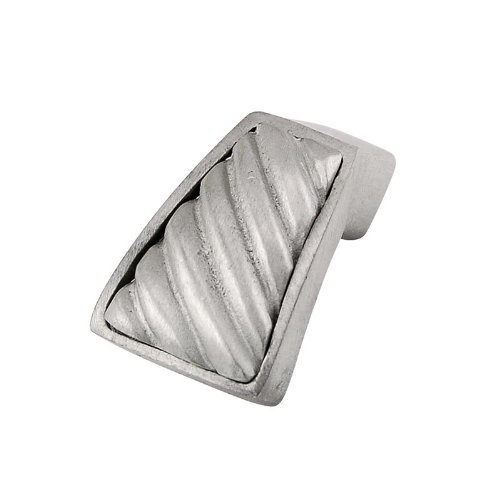 Wavy Lines Satin Nickel Vicenza Designs K1253 Sanzio Finger Pull Knob