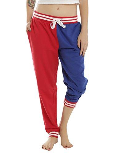 DC Comics Suicide Squad Harley Quinn Property Of Joker Girls Jogger Lounge Pants (Large) (Harley Quinn Children)