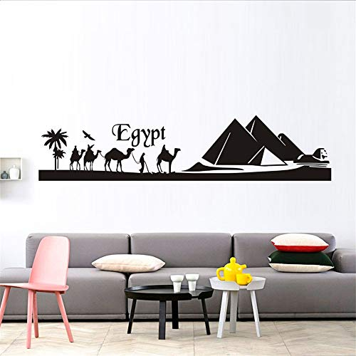 Wall Sticker Lettering Wall Art Sticker Removable Letters Quote Art Egypt Pyramid Skyline Camel Sand Landscape Home Decor Living Room