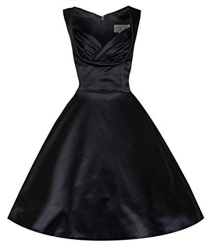 Lindy-Bop-Ophelia-Chic-Vintage-1950s-Black-Satin-EveningCocktail-Dress